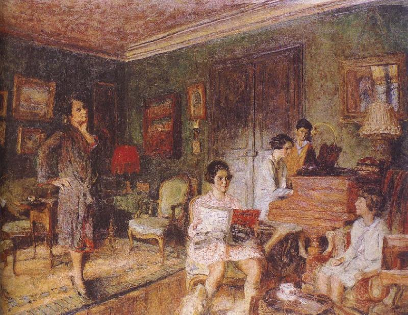Edouard Vuillard Mrs Olga with her children
